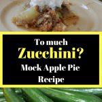 To much zucchini? Mock apple pie recipe. Mock apple pie, zucchini