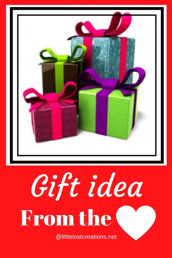 Gift idea from the heart, stack of presents, @littlelostcreations.net