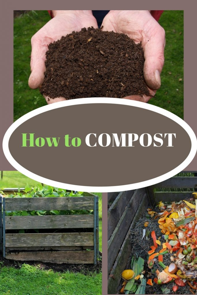 How to compost, dirt and composting material.